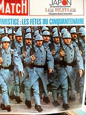 PARIS MATCH N° 1020 WW1 CINQUANTENAIRE ARMISTICE BEATLES JAPON CHAGALL 1968