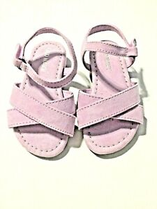 Old Navy Toddler Girls Size 5 Purple Suede Cross Strap Sandals