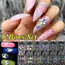 Decorazioni per nail art in cristallo cristallo glitter 3D per unghie