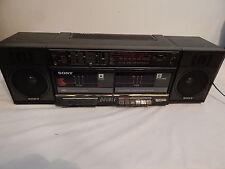 Vintage Sony boombox Cfs-W400 Dual Cassette Am/Fm Needs Work