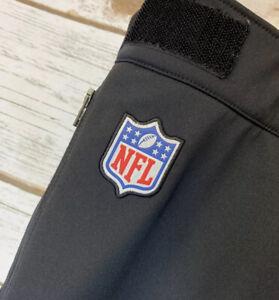 Nike Mens XL NFL Onfield Apparel Soft Shell Pants Black Zip Cuffs
