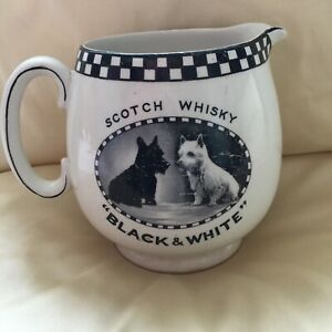 SHELLY BLACK & WHITE SCOTCH WHISKY WATER JUG SHOWS SIGNS OF WEAR & TEAR