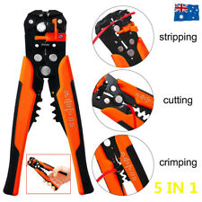 Automatic Wire Side Cutter Stripper Plier Electrical Cable Crimper Terminal Tool