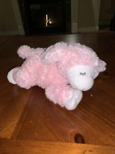 "BABY GUND 58131 Plush WINKY Pink Lamb Sheep Rattle Girl Stuffed Animal Toy 9"""