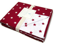 Pottery Barn Kids Organic Cotton Red White Star Full Queen Duvet Cover New