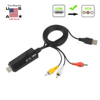 1080P HDMI Male to 3 RCA S-video AV Audio Cable Cord Adapter for TV HDTV DVD US