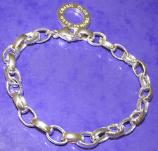 STUNNING STERLING SILVER THOMAS SABO LINK  CHARM  BRACELET 18cm WITH CHARM