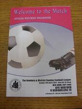 19/04/2015 Newbury Sunday League MFA Bowl Cup Final: AFC Boxford v Burghclere [A