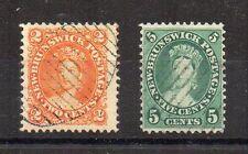 Canada - 1863 2c + 1860-63 5c fu
