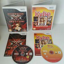 Wii CANTANDO BALLANDO Gioco Bundle-la X-Factor + Kylie CANTARE & Dance