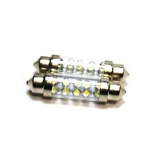 2x White Ultra LED Festoon [264] 42mm 24v Interior Light Bulbs