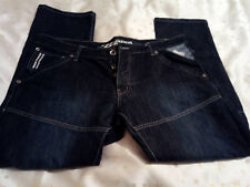 New Ze'Enzo 989 Mens Blue Button Fly Jeans Size 40R