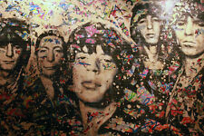 "Mr Brainwash Graffiti Rolling Stones Offset Litho Poster Print 23"" x 33"""
