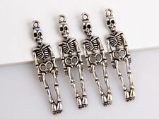 10pcs Zinc alloy skeleton frame pendants 39x9mm 1A1708