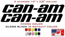 "(#676)  2 X 16"" CAN-AM TEAM outlander maverick BRP STICKER DECAL EMBLEM (KIT)"