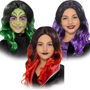 Wicked Witch Wigs Girls Fancy Dress Halloween Childrens Kids Costume Accessory