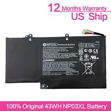 Genuine NP03XL HP ENVY X360 15-U011DX Battery 43WH 761230-005 HSTNN-LB6L OEM