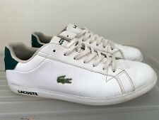 Mens LACOSTE Graduate LCR3 White Leather Sneakers US 10 #16411