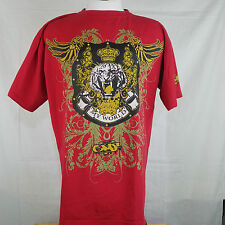 "2XL Give Me Face GMF Red Lion ""My World"" King Crown Men's T-Shirt Tee"