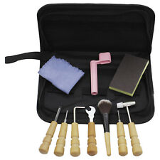 10PCS Guitar Care Tech Guitar Repair Maintenance Tools Full Kit & Bag