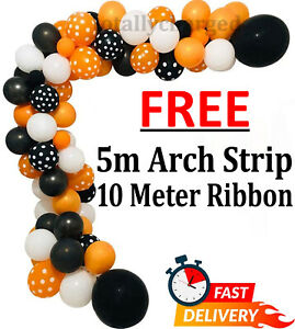Halloween Balloons Garland Kit 100 Pcs Spider Party Balloon Arch Decoration Sets