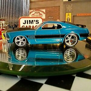 "Loose-Jada Big Time Muscle- ""1970 Ford Mustang Boss 429"" Blue 1:64 Diecast Nice"