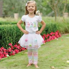 MUD PIE Easter Bunny Skirt Tutu Set Baby Girl 9-12 Months
