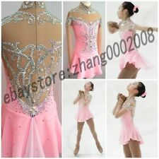Ice Figure skating dress.Pink Competition Skating dress.Baton Twirling Costume