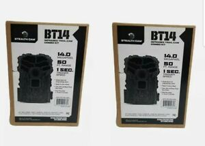2 PACK STEALTH CAM BT14-USA INFARED GAME CAMERA COMBO KIT SD CARD AND BATTERIES