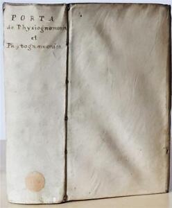 De Humana Physiognomonia & Phytognomonica by Giambattista della Porta, 1650 RARE