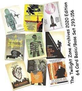 The Twilight Zone Archives - 2020 Edition - 64 Card Basic/Base Set #J93-J156
