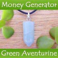 GREEN AVENTURINE Crystal Healing Point LUCK ~ SUCCESS Gemstone Pendant Necklace