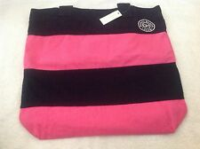 GILLY HICKS TOTE / BOOK BAG NAVY/PINK NEW