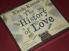 THE HISTORY OF LOVE by NICOLE KRAUSS - 3 Disc Audio CD Pack  NEW