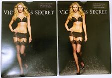 2 Pair Victoria/'s Secret Stockings Silky Sheer Leg with Lace Detail Band