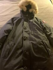 Canada Goose Mens Chateau Parka Style 3426M Navy XL With Fur Hood Orig 995