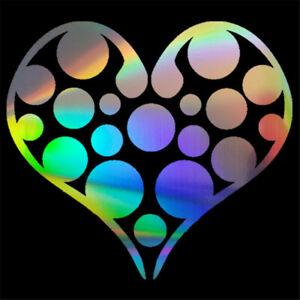 2PCS Heart shape Round Dot Vinyl Decal Car Window Bumper Laptop Wall Stickers