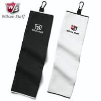 WILSON STAFF TRI FOLD MICROFIBRE GOLF TOWEL 16″ X 21″ CARABINER CLIP GOLF TOWEL