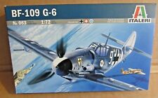 ITALERI MESSERSCHMITT BF-109 G-6 1:72 SCALE MODEL KIT GERMAN FIGHTER AIRCRAFT