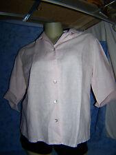 MAAS Kurzbluse Bluse Sommer  Gr. 38, Rosa/ Pink, Dreiviertel Arm , 100% Leinen!