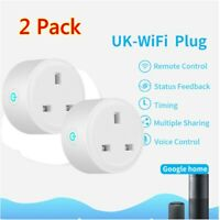 2Pcs Smart Plug Outlet Switch WiFi Socket Remote Control Amazon Alexa Google UK