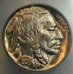1936-S USA Buffalo Nickel Brilliant Uncirculated ICG MS65+ Condition  (609)