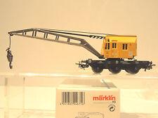 Märklin Hobby  4671 Kranwagen,  gelb,  3-Achsen,  TOP,  OVP  (734)
