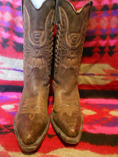 Santana western cowboy boots en cuir marron made in spain taille 36