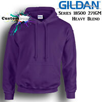 Gildan Purple Hoodie Heavy Blend Basic Hooded Sweat Mens Pullover Shirt