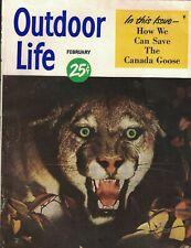 Outdoor Life Magazine February 1950 Grancel Fitz Canada Goose Lauritz Melchior