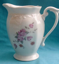 Chodziez Poland BOUQUET Pattern 54185 Creamer, Platinum trim, floral rose