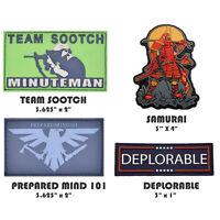 Tactical Combat Backpack Hat Jacket Morale Patch Badge PVC Hook & Loop - Opt 1
