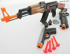 3x Toy Guns Friction AK-47 Toy Rifle Grey 9MM Dart Pistol Sawed-off Toy Shotgun