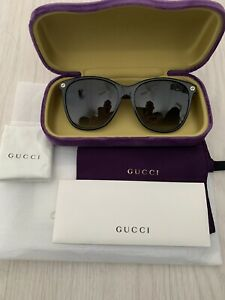 Sunglasses GUCCI ORIGINAL GG0024S havana brown Arms Black Frames Case Colour May
